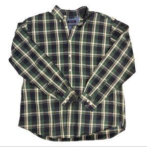 Nautica Mens Plaid Long Sleeve Button Down Shirt